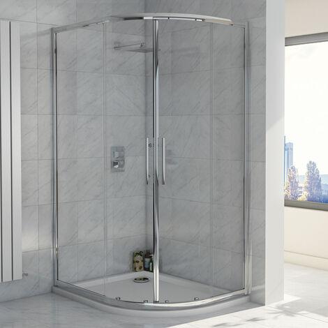 Orbit A8 Double Door Offset Quadrant Shower Enclosure 1200mm x 900mm - 8mm Glass