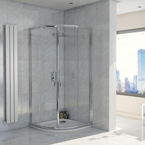 Orbit A8 Double Door Quadrant Shower Enclosure 800mm x 800mm - 8mm Glass