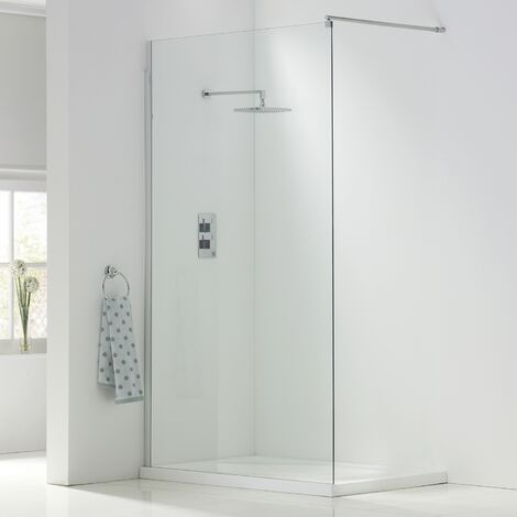 Orbit A8 Wet Room Glass Panel 600mm Wide - 8mm Clear Glass
