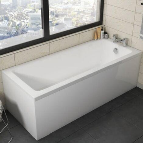 Orbit Cascade Double Ended Rectangular Bath 1800mm x 800mm - Acrylic