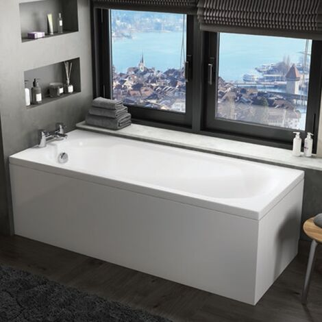 Orbit Cascade Single Ended Rectangular Bath 1600mm x 700mm - Acrylic