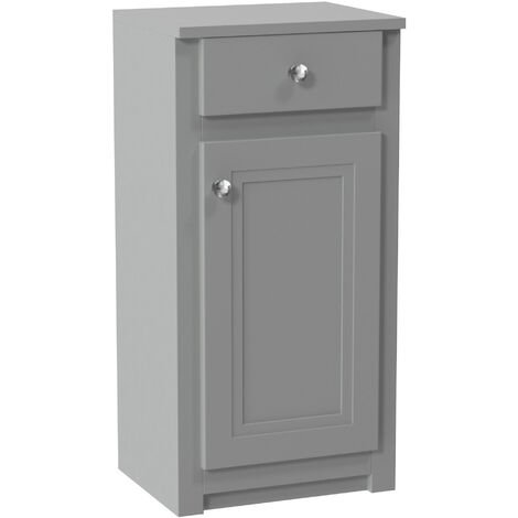 Orbit Classica Traditional Side Cabinet 400mm Wide 1-Drawer and 1-Door - Stone Grey