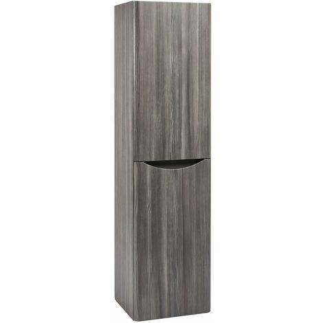 Orbit Contour Wall Hung Tall Storage Unit 400mm Wide - Avola Grey