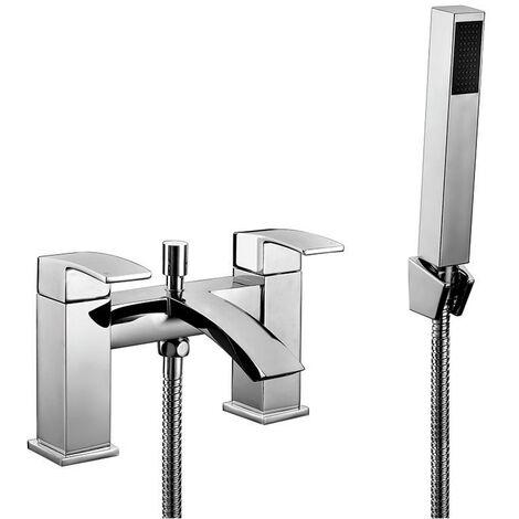 Orbit Distro Bath Shower Mixer Tap Pillar Mounted - Chrome