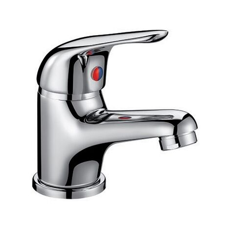 Orbit Entry Mono Basin Mixer Tap with Push Button Waste 35mm - Chrome