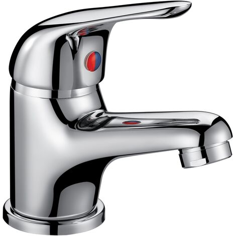 Orbit Entry Mono Basin Mixer Tap with Push Button Waste 40mm - Chrome