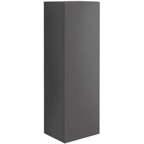 Orbit Illumo Wall Hung Tall Boy Storage Unit 300mm Wide - Matt Grey