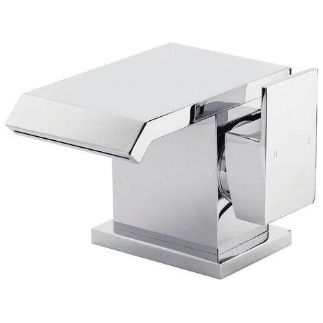 Orbit Kano Mono Basin Mixer Tap with Push Button Waste - Chrome