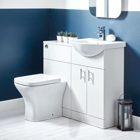 Orbit Lanza Combination Furniture Pack 550mm Vanity Unit 500mm WC Unit 1 Tap Hole