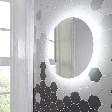 Orbit Lunar LED Bathroom Mirror with Demister Pad 600mm Diameter