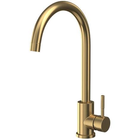 "main image of ""Orbit Manhattan Kitchen Sink Mixer Tap - Brushed Brass"""