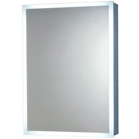 Orbit Mia LED Mirror Cabinet with Demister Pad and Shaver Socket 700mm H x 500mm W