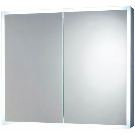 Orbit Mia LED Mirror Cabinet with Demister Pad and Shaver Socket 700mm H x 600mm W