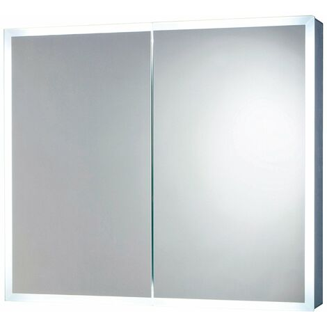 Orbit Mia LED Mirror Cabinet with Demister Pad and Shaver Socket 700mm H x 800mm W