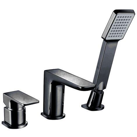 Orbit Noire 3-Hole Bath Shower Mixer Tap Deck Mounted - Matt Black