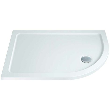 Orbit Offset Quadrant Shower Tray 900mm X 760mm Right Handed