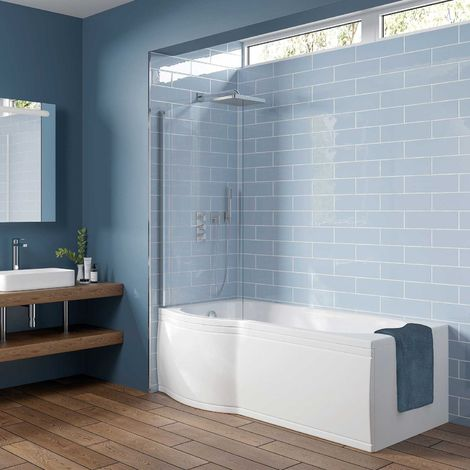 Orbit P-Shaped Shower Bath 1675mm x 750mm/850mm - Left Handed