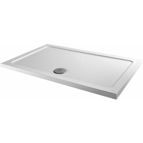 Orbit Rectangular Shower Tray 1100mm x 800mm Stone Resin