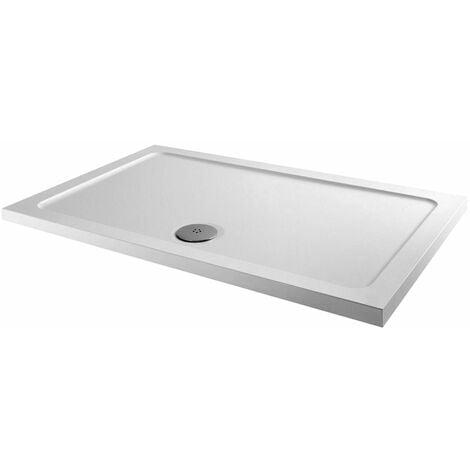 Orbit Rectangular Shower Tray 900mm x 700mm Stone Resin