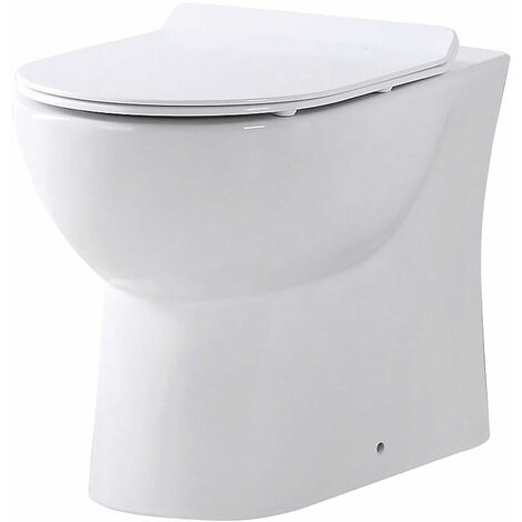 Orbit Riva Rimless Back to Wall Toilet Pan 510mm Projection - White