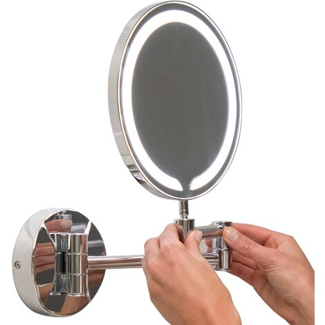 Orbit Round Wall Hung LED Makeup Bathroom Mirror 200mm Diameter
