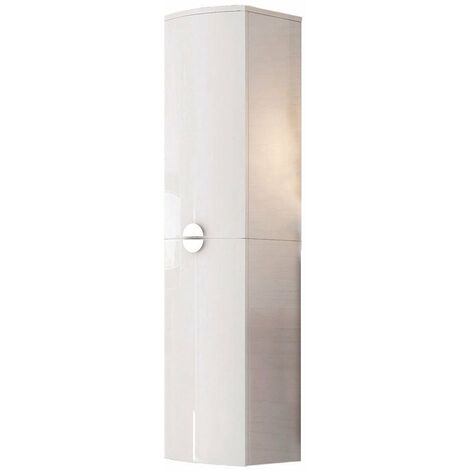 Orbit Solar D Shape Tall Storage Unit 320mm Wide - Gloss White