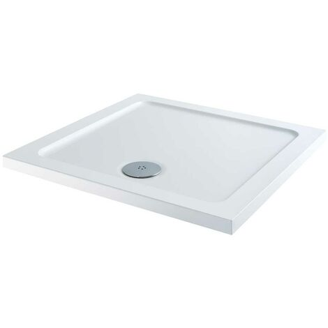 Orbit Square Shower Tray 1000mm x 1000mm Stone Resin