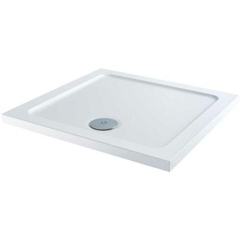 Orbit Square Shower Tray 800mm x 800mm Stone Resin