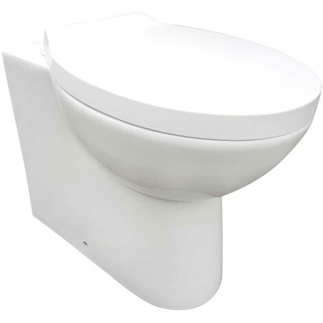 Orbit Swift Back to Wall Toilet 525mm Projection - Soft Close Seat