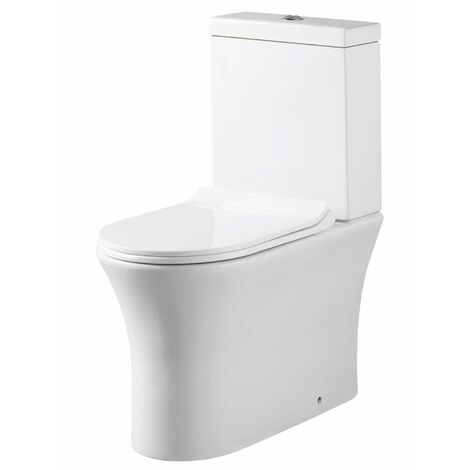 Orbit Viva Comfort Height Close Coupled Rimless Toilet Push Button Cistern - Excluding Seat