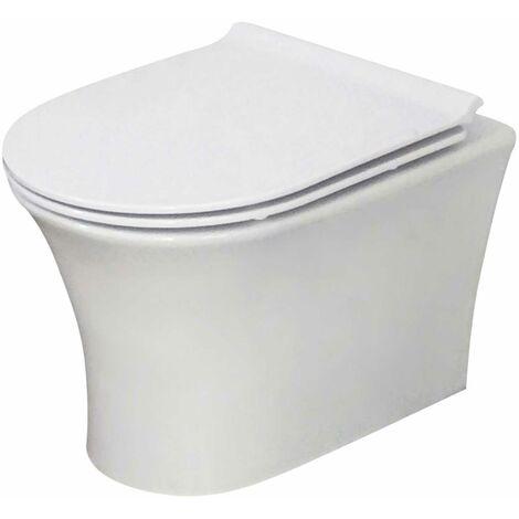 Orbit Viva Wall Hung Toilet Pan 480mm Projection - White