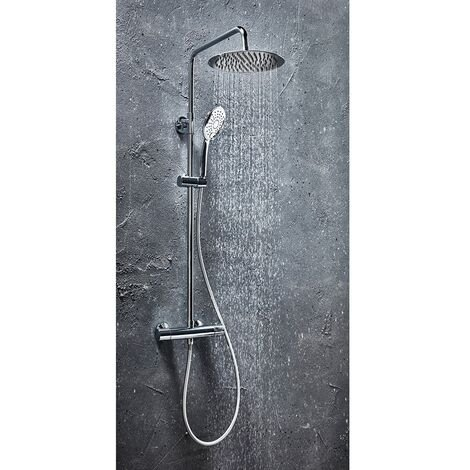Orbit Vizion Curved Thermostatic Bar Mixer Shower with Shower Kit and Fixed Head - Chrome