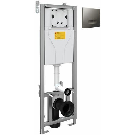 Orbit WC Toilet Frame and Concealed Cistern with Chrome Flush Plate 1100mm High