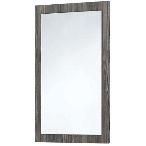 Orbit Wood Frame Bathroom Mirror 800mm H x 500mm W - Avola Grey