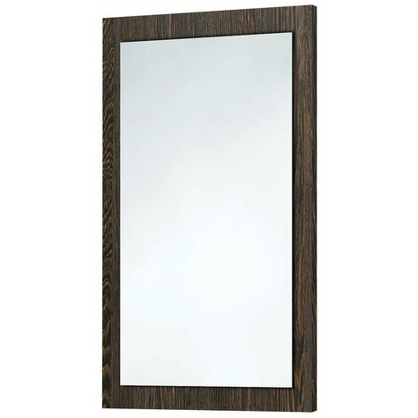 Orbit Wood Frame Bathroom Mirror 800mm H x 500mm W - Dark Oak