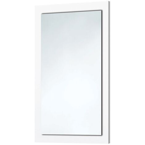 Orbit Wood Frame Bathroom Mirror 800mm H x 500mm W - Gloss White