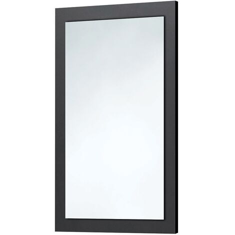 Orbit Wood Frame Bathroom Mirror 800mm H x 500mm W - Graphite Grey