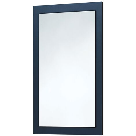 Orbit Wood Frame Bathroom Mirror 800mm H x 500mm W - Indigo Blue