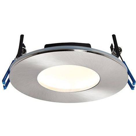 Orbital Plus IP65 9W Warm White Ceiling Recessed Light - Satin Nickel Steel