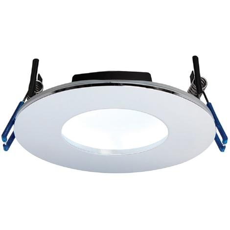 OrbitalPLUS Chrome Luxury Bathroom Downlight IP65 9W Dimmable Cool White Light