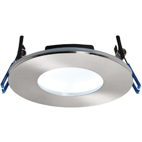 OrbitalPLUS Satin Luxury Bathroom Downlight IP65 9W Dimmable Cool White Light