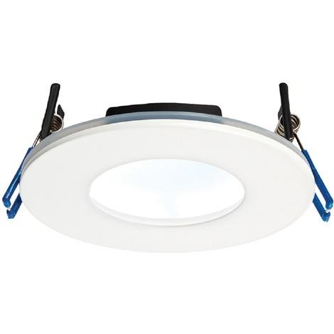 OrbitalPLUS White Luxury Bathroom Downlight IP65 9W Dimmable Cool White Light
