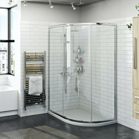 Orchard 6mm one door offset quadrant shower enclosure 1200 x 800