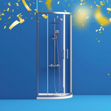 Orchard 6mm two door quadrant shower enclosure 800 x 800