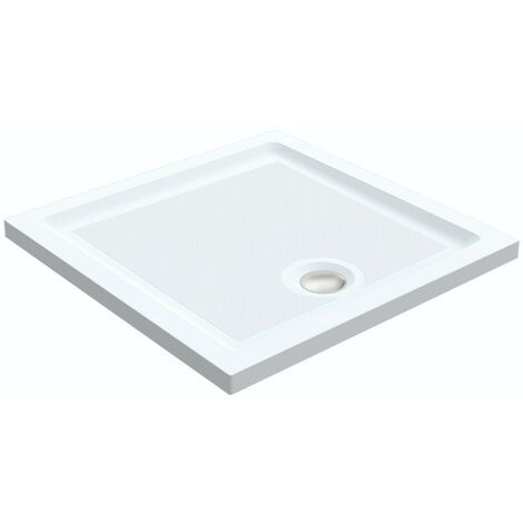 Orchard anti-slip square stone shower tray 700 x 700