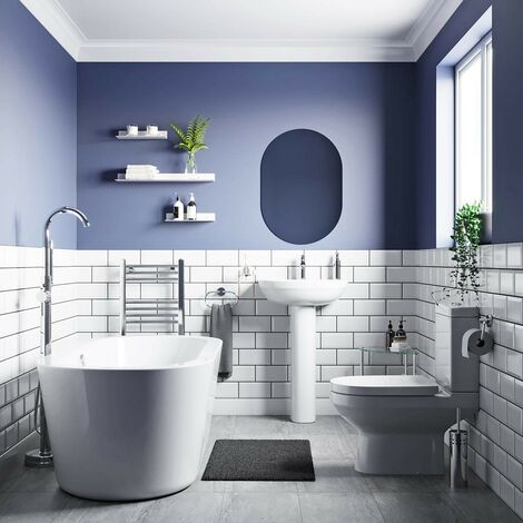 Orchard Balance complete freestanding bath suite with taps and wastes 1565 x 740
