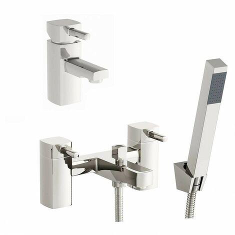 Orchard Derwent basin and bath shower mixer tap pack