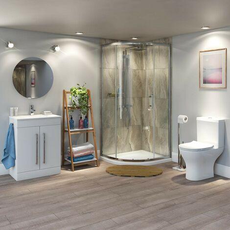 """main image of """"Orchard Derwent offset quadrant shower enclosure suite 900 x 760"""""""