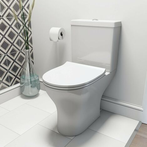 Orchard Derwent round compact close coupled toilet with luxury slim soft close seat