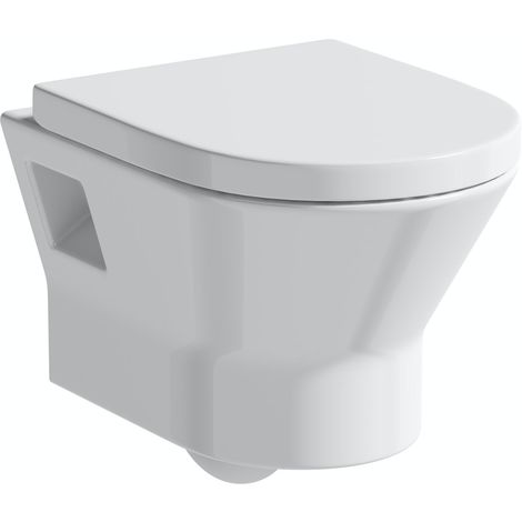 Orchard Derwent round rimless wall hung toilet with soft close seat